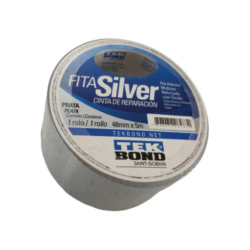 Fita Silver Tape 5 Metros - TEKBOND