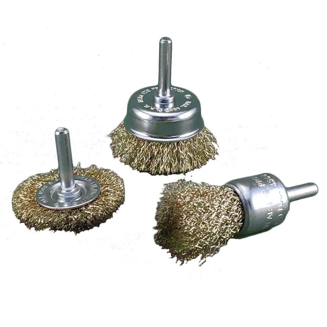 Escova de Aço para Furadeira Kit 3 Peças