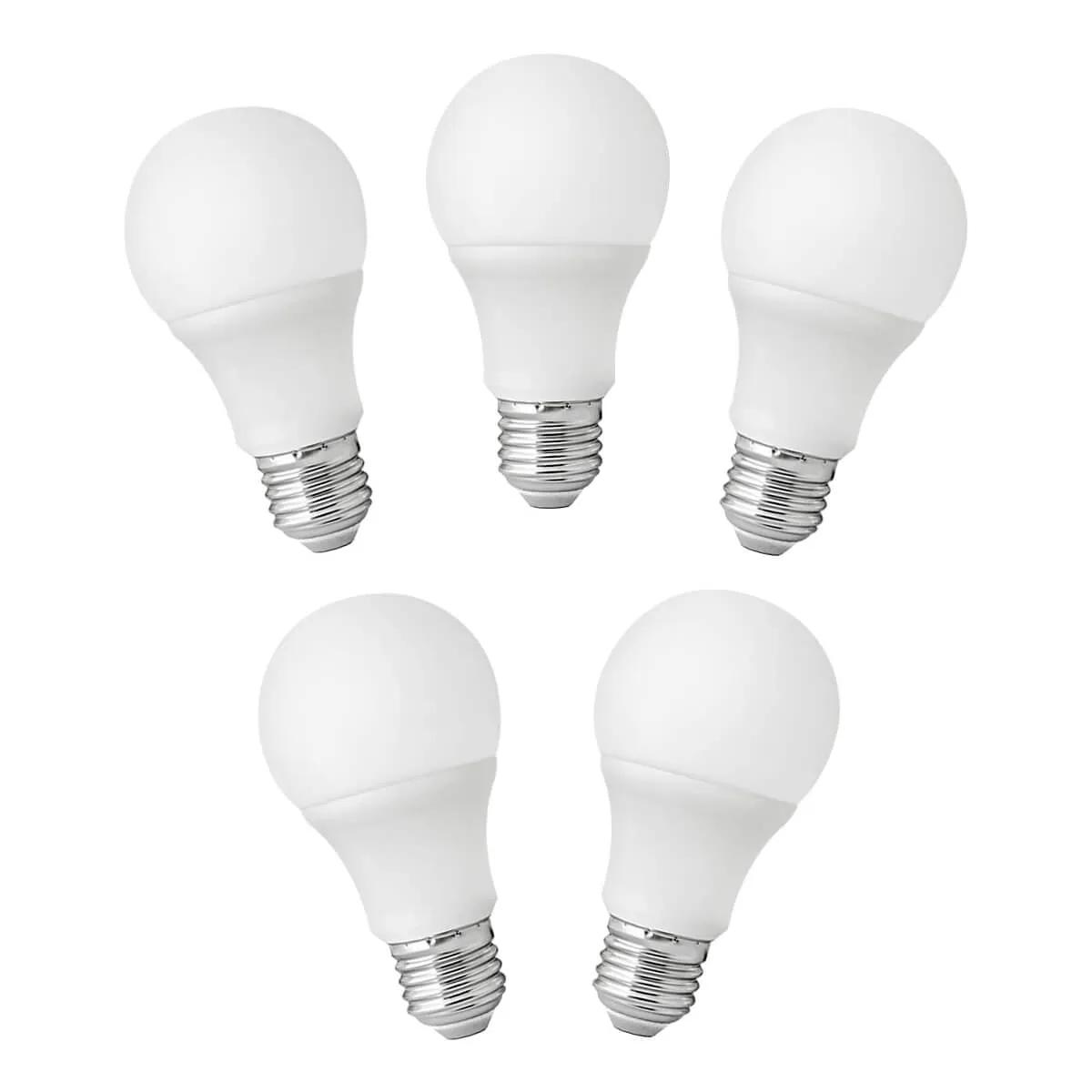 Kit 5 Lâmpadas 9W LED A60 - Elgin