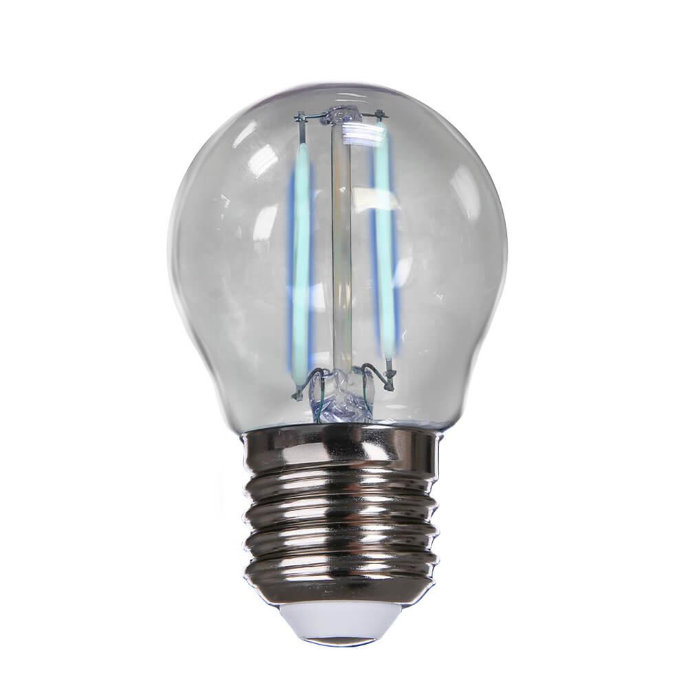 Lâmpada Azul Bolinha 2W Filamento LED Bivolt