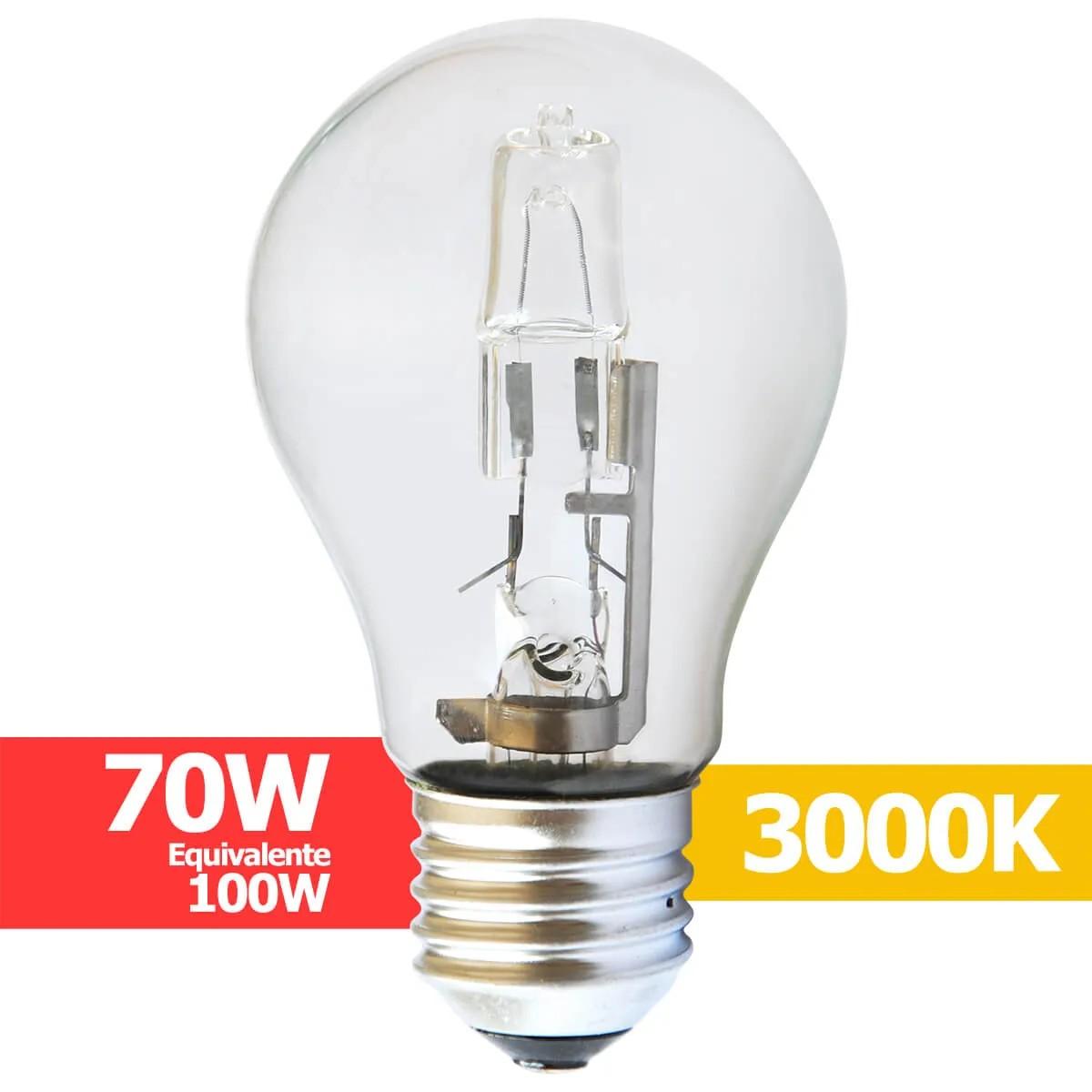 Lâmpada Halôgena 70W Bulbo E27 3000K 220V - FLC