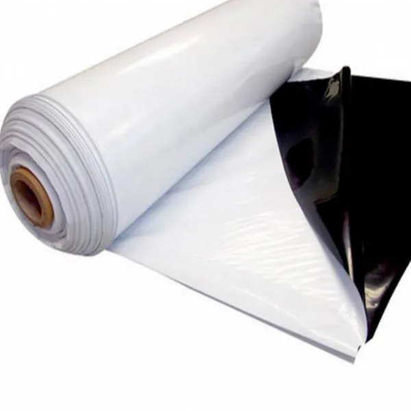 Lona Plástica Branca e Preta Por Metro - LONAX