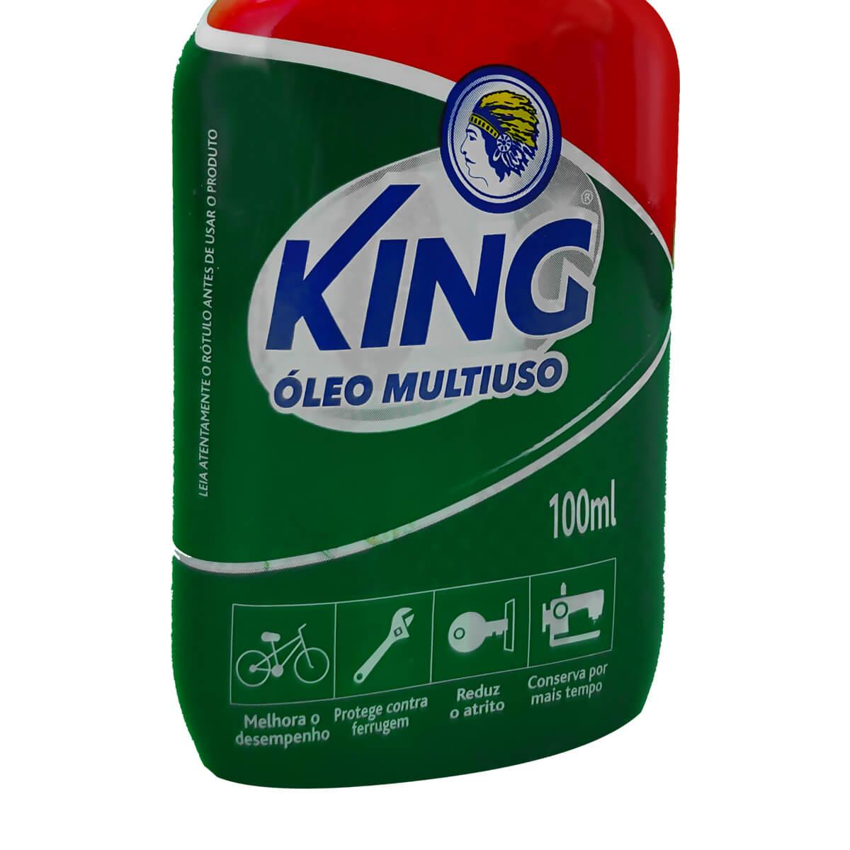 Óleo Multiuso Lubrificante 100ml - King