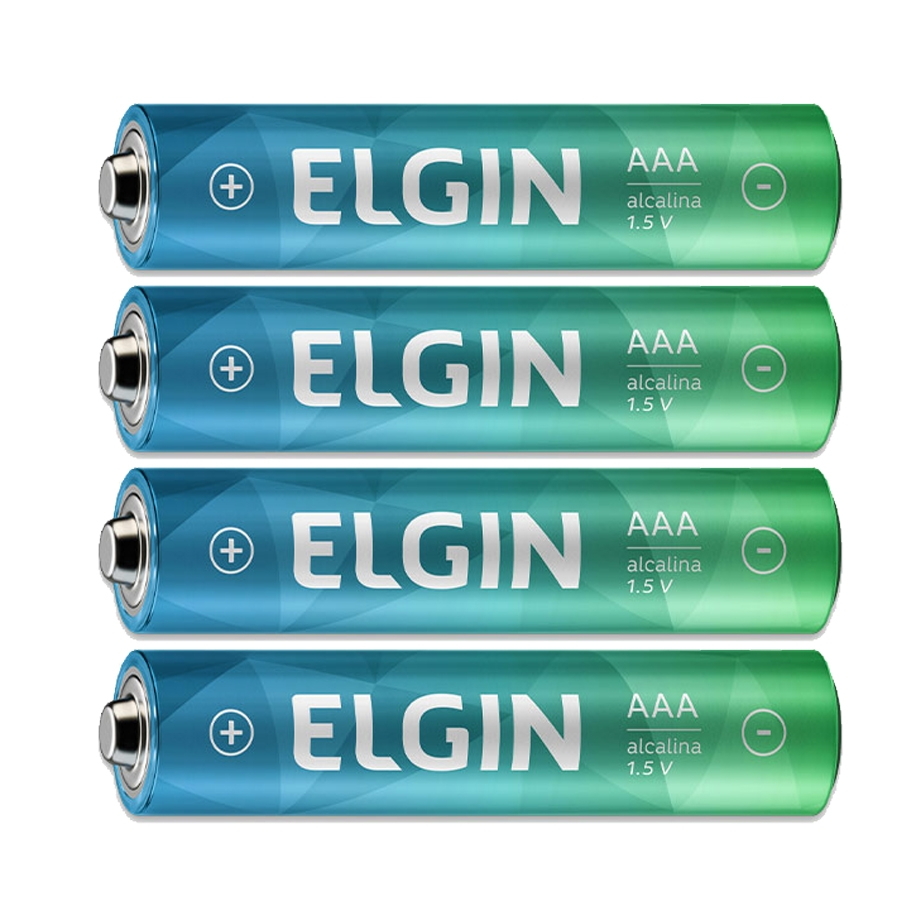 Pilha AAA Palito Alcalina 4 Unidades - Elgin