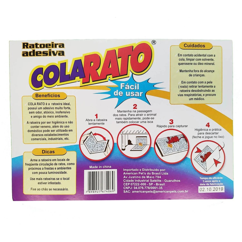 Ratoeira Cola Rato Adesiva - American Pets