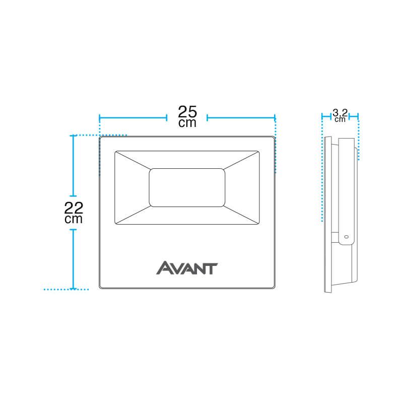 Refletor LED 100W IP65 Bivolt - Avant