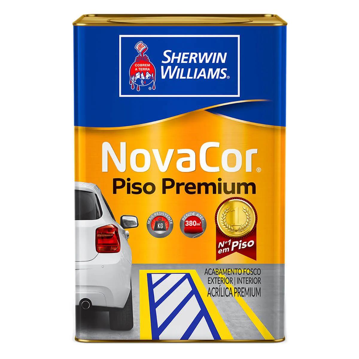 Tinta Acrílica Piso Fosca Cinza Chumbo 18 Litros - NOVACOR