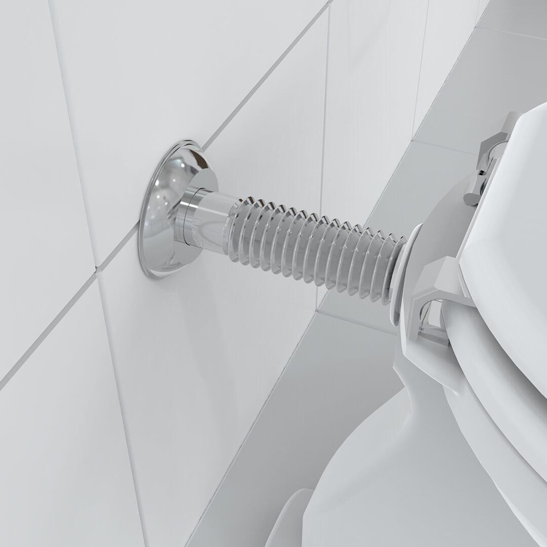 Tubo de Ligação Ajustável Cromado para Vaso Sanitário - Blukit