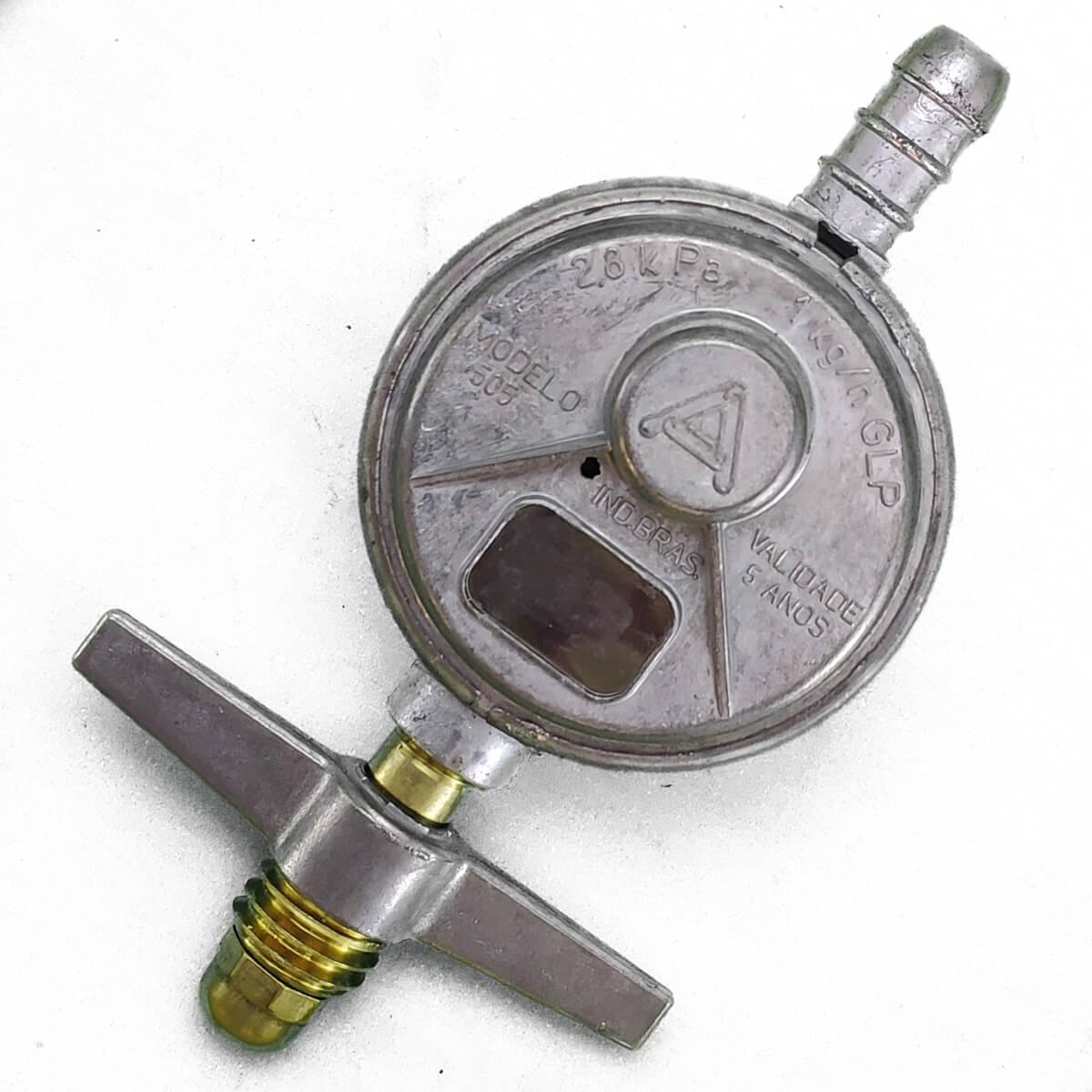 Válvula para Butijão de Gás Com Mangueira 1,2 Metros - Aliança