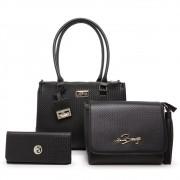 Kit 3 Bolsa Feminina Grande e Bolsa Transversal + Carteira Fashion Willibags