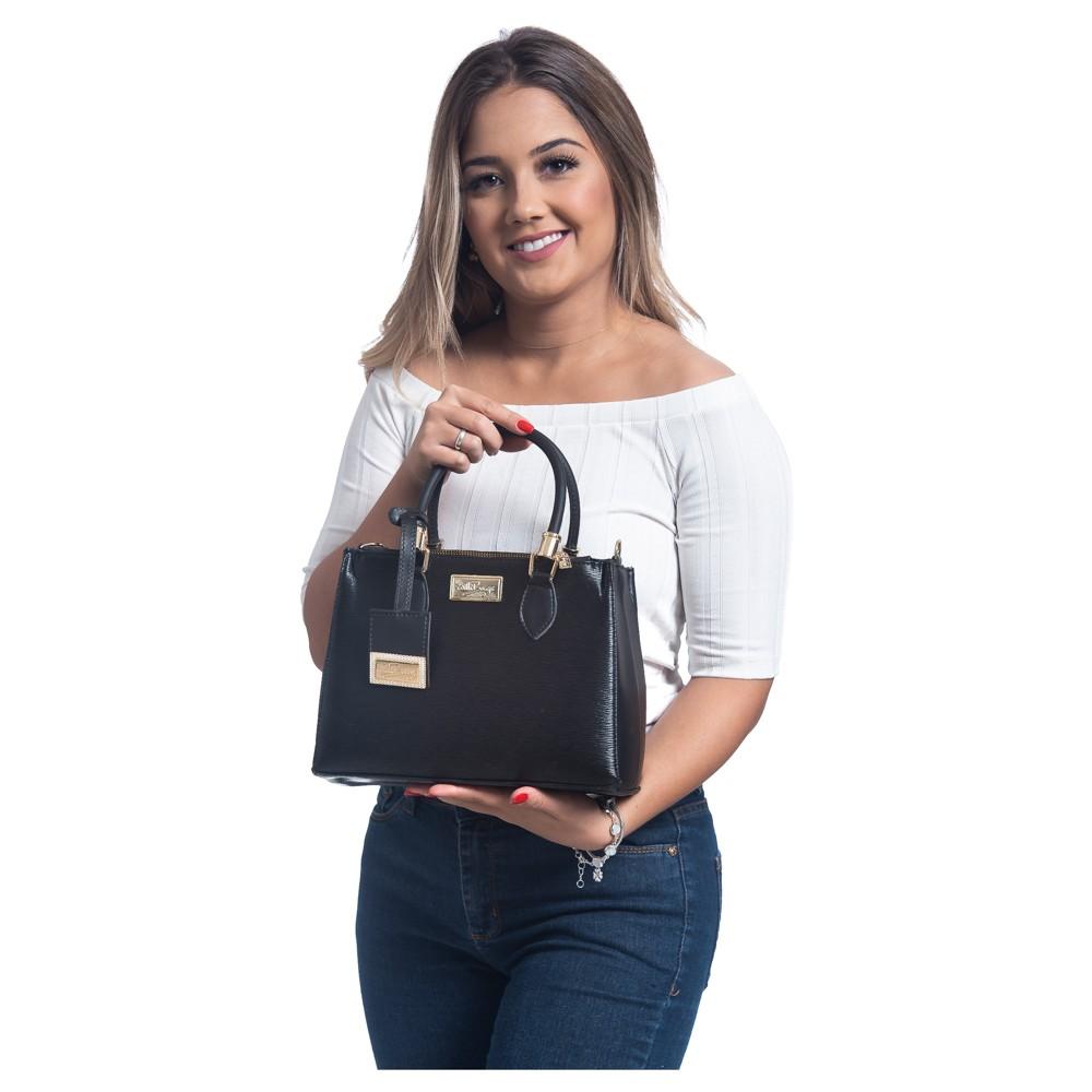 Bolsa Lorena Willibags com Alça Transversal Bege