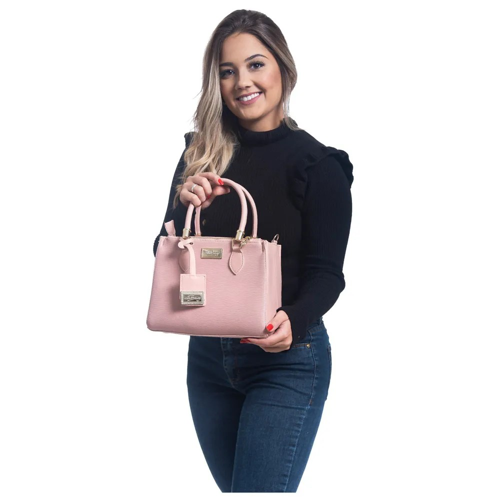 Bolsa Lorena Willibags com Alça Transversal Gelo