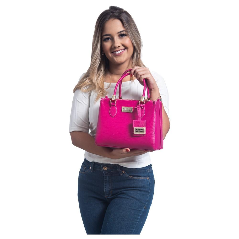 Bolsa Lorena Willibags com Alça Transversal Pink
