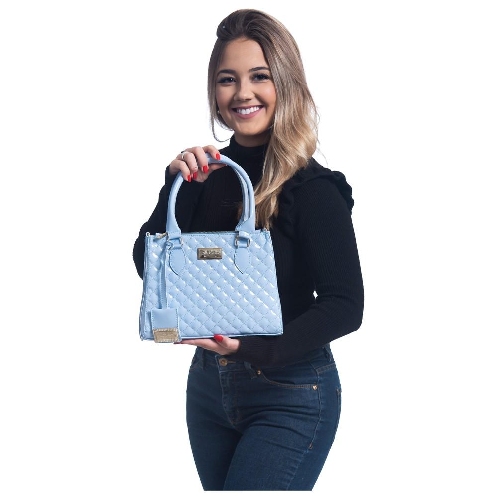 Bolsa Luxo Feminina Com Alça Removível Super Promoção! Azul