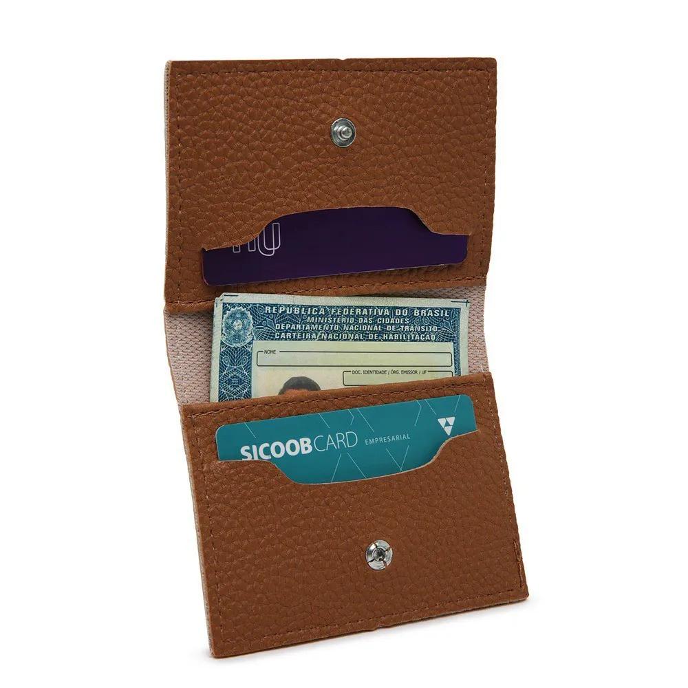 Kit Bolsa Grande mais carteira e porta cartões caramelo Willibags