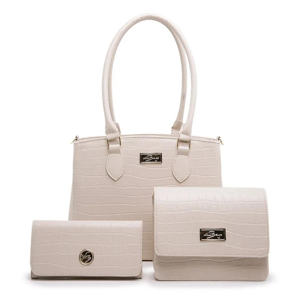 Kit CONJUNTO Bolsa Grande e Bolsa Pequena com Carteira Fashion Willibags