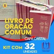Livro de Oração Comum - Capa Cristal CAIXA c/32 unidades