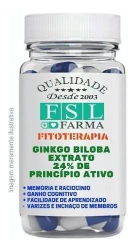 Ginkgo Biloba 24% 120Mg - 3 Frascos Com 60 Cápsulas