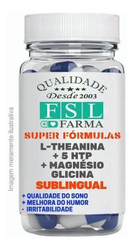 L-Teanina 50 mg + 5 Htp 50 mg + Magnésio Glicina 45 mg - Sublingual