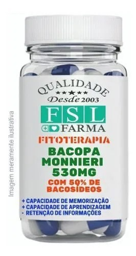 Bacopa Monnieri (Com 50% De Bacosídeos) 530Mg - 120 Cáps