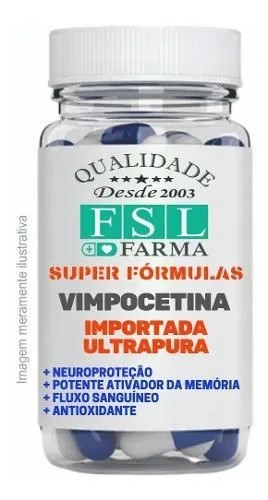 Vimpocetina 10Mg Neuroprotetor Natural - 120 Cápsulas