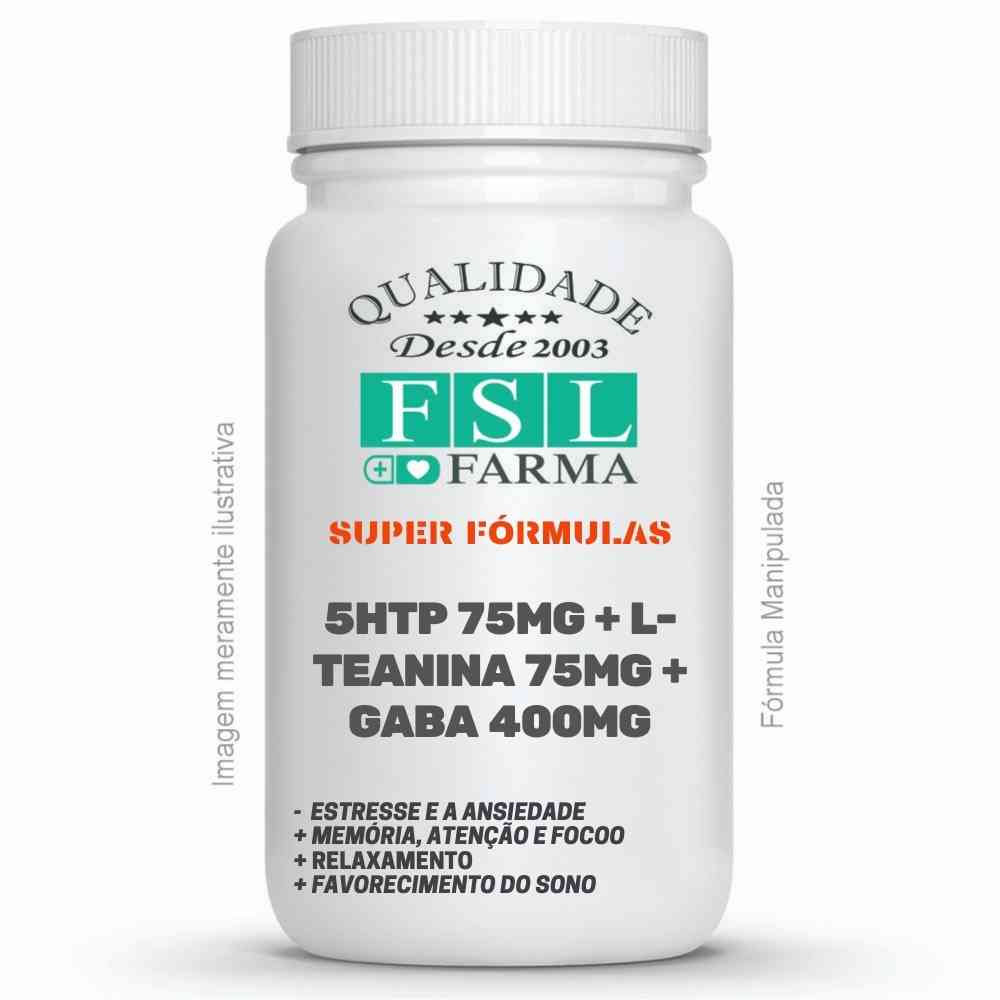 5HTP 75mg + L-Teanina 75mg + Gaba 400mg - Sono, Stress e Ansiedade ®