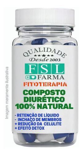 Composto Diurético Emagrecedor 100% Natural - 120 Cápsulas