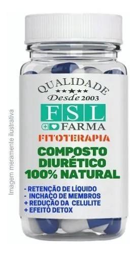 Composto Diurético Emagrecedor 100% Natural - 180 Cápsulas