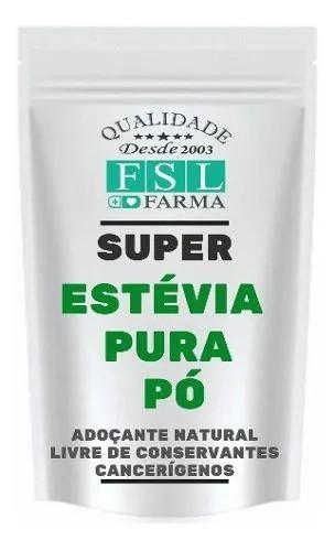 Estévia Puro Pó Vegan 100% Natural - 40 Gramas