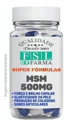 Msm Enxofre Orgânico 500Mg - 120 Cápsulas