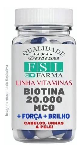 Biotina Bioidêntica 20.000Mcg