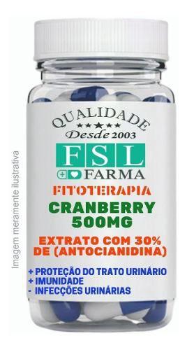 Cranberry Extrato 500Mg 30% Vegan - 60 Cápsulas