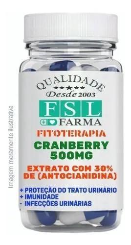 Cranberry Extrato 500Mg 30% Vegan - 120 Cápsulas