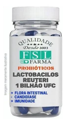 Lactobacilos Reuteri 1 Bilhão - 120 Cápsulas Vegan