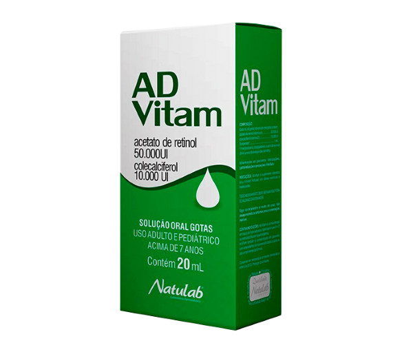 AD-Vitam Solução oral 20ml - Natulab