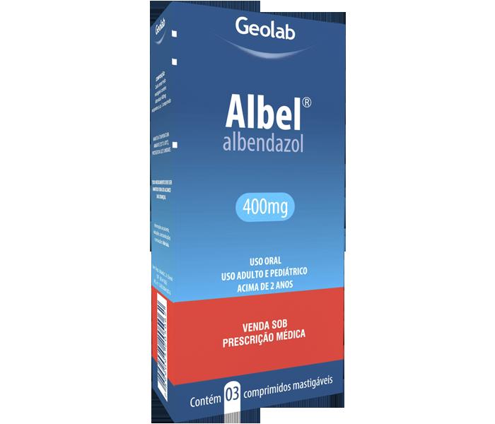 Albel 400mg com 3 Comprimidos Geolab