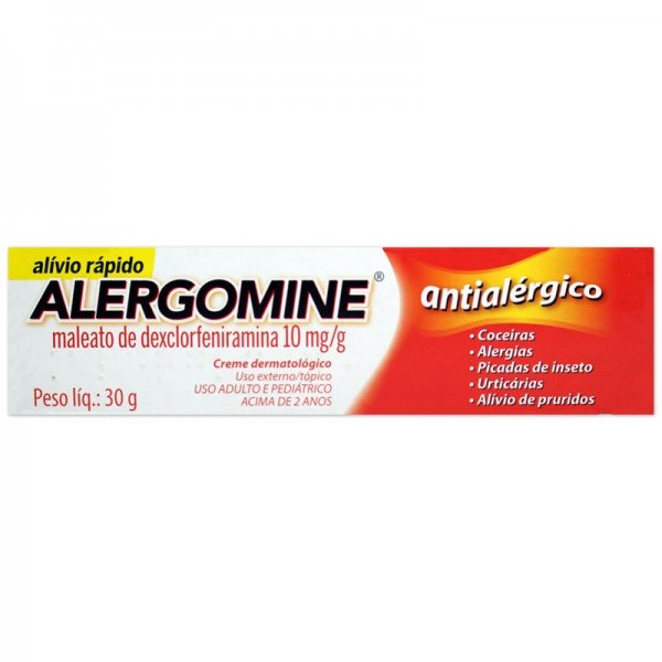 Alergomine Creme Dermatológico 10mg/g Com 30g