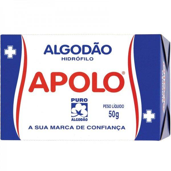 Algodão Rolo Hidrófilo Apolo Multiuso Caixa C/ 50g