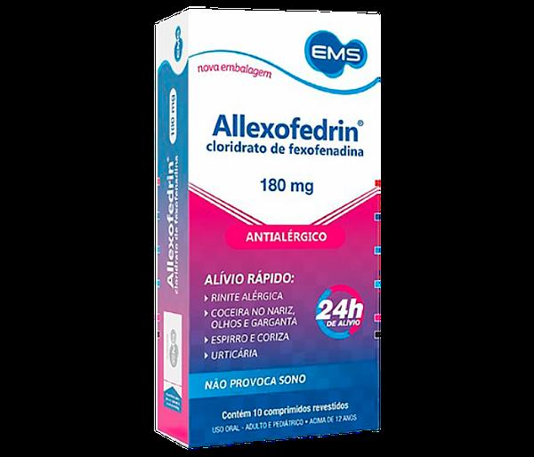 Allexofedrin 180mg com 10 comprimidos - EMS