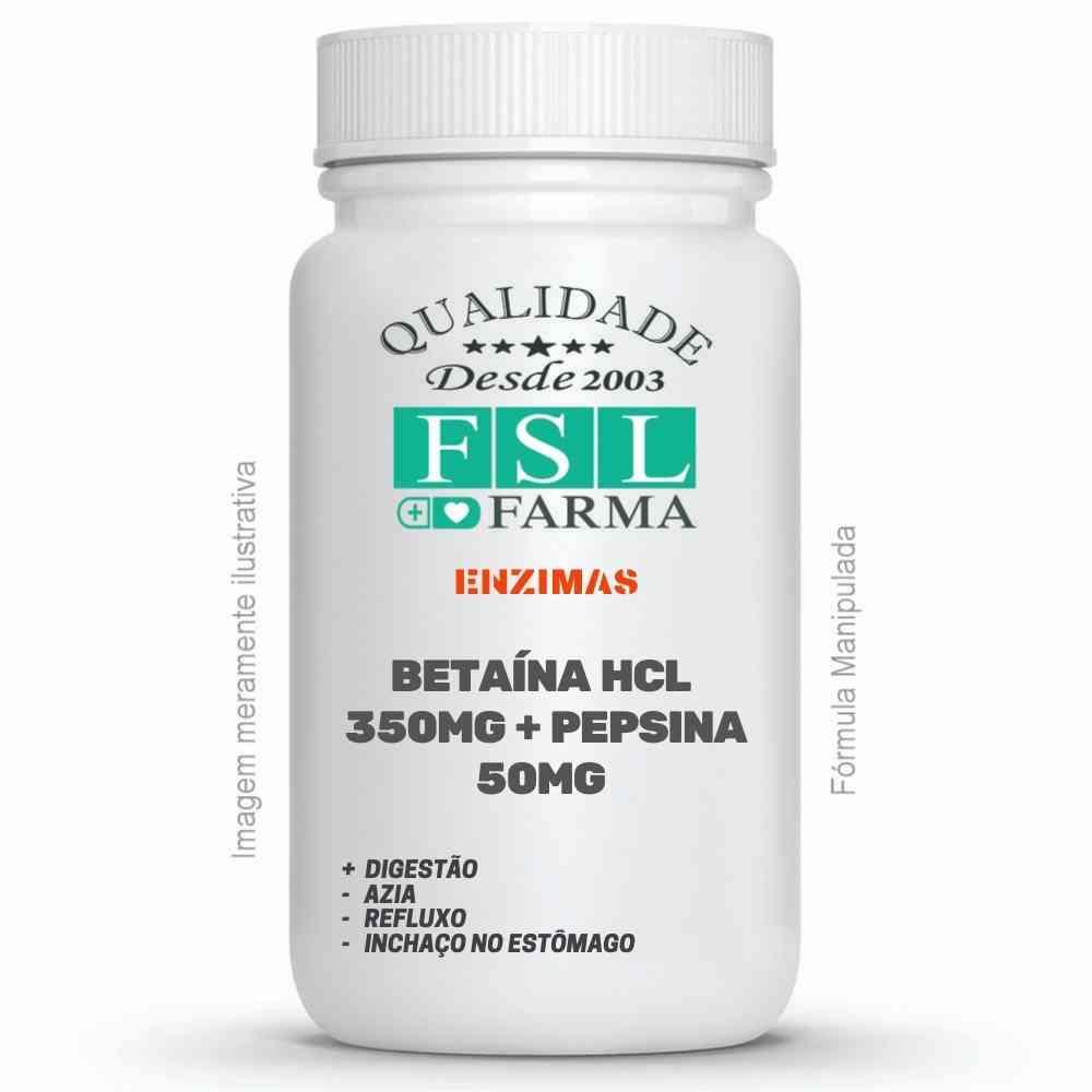 Betaína Cloridrato 350 mg + Pepsina 50 mg - Digestivo ®