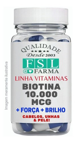 Biotina Bioidêntica 10.000Mcg