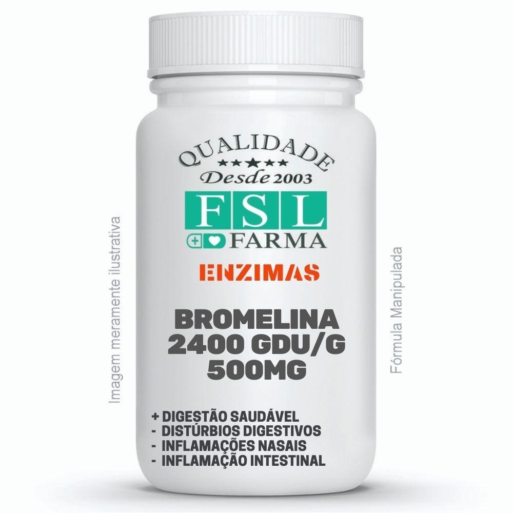 Bromelina 2400 GDU/g (Alta Potência) 500mg ®