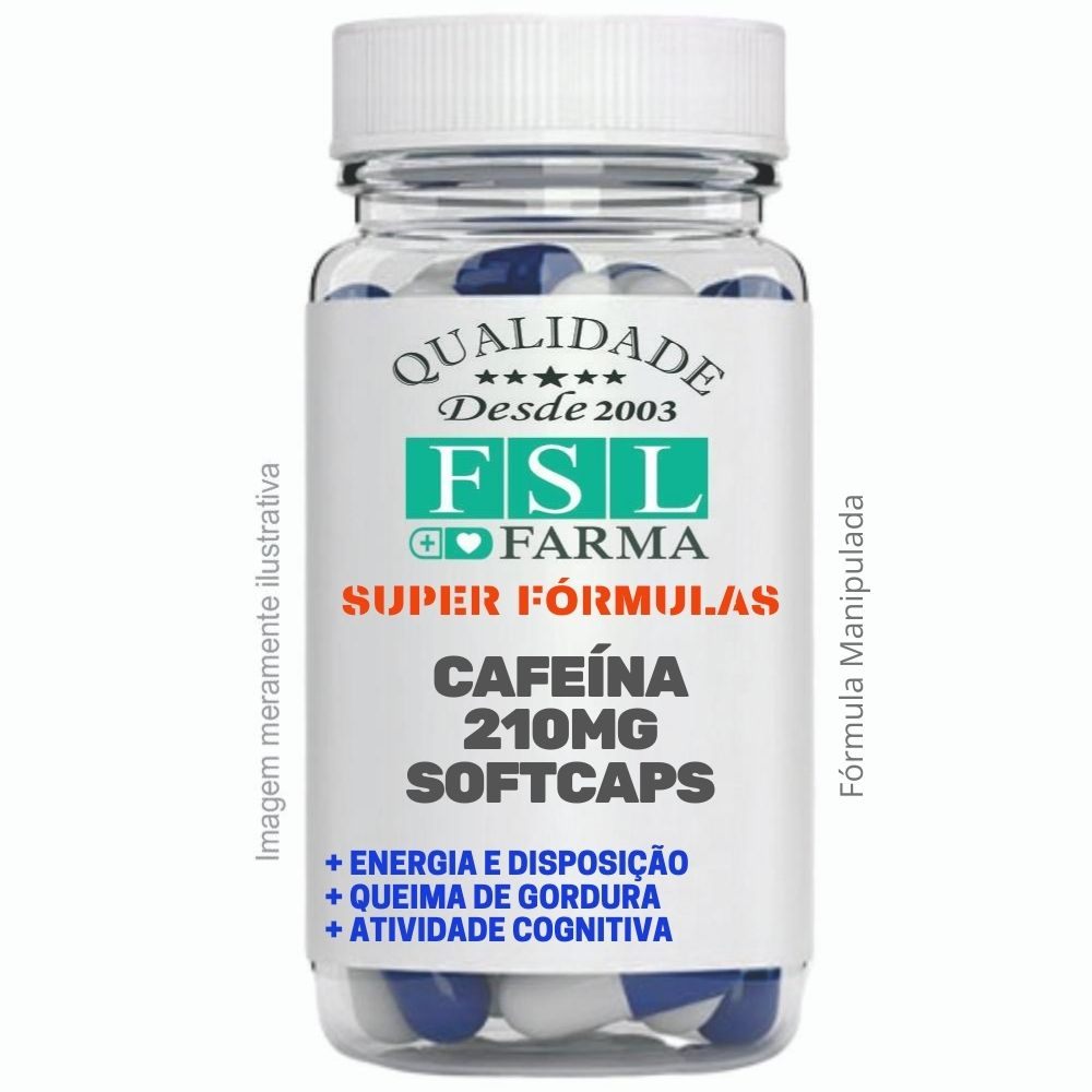 Cafeína 210Mg - Softcaps