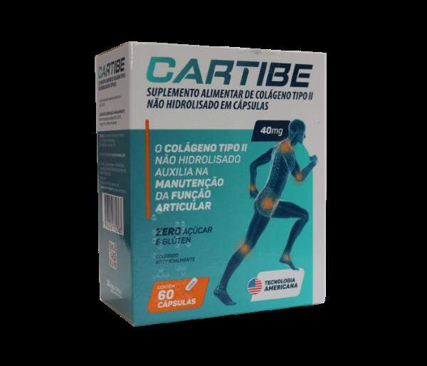 Cartibe Colágeno Tipo II 40mg com 60 cápsulas - EMS
