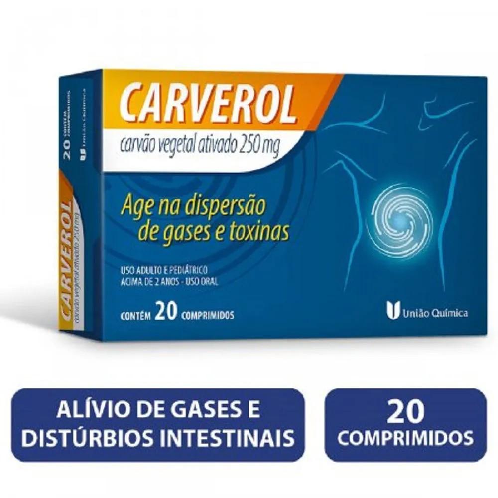 Carverol 250Mg 20 Comprimidos