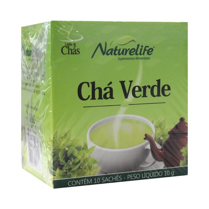 Chá Verde com 10 sachês/10g cada - Naturelife