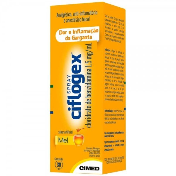 Ciflogex (Cloridrato De Benzidamina) Spray 30 Ml