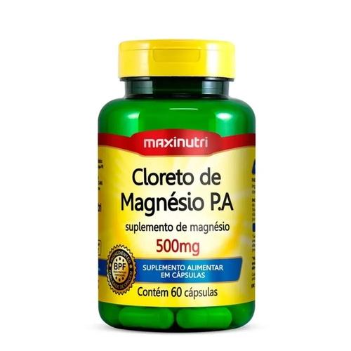 Cloreto de Magnésio P.A 500mg 60 Cápsulas Maxinutri