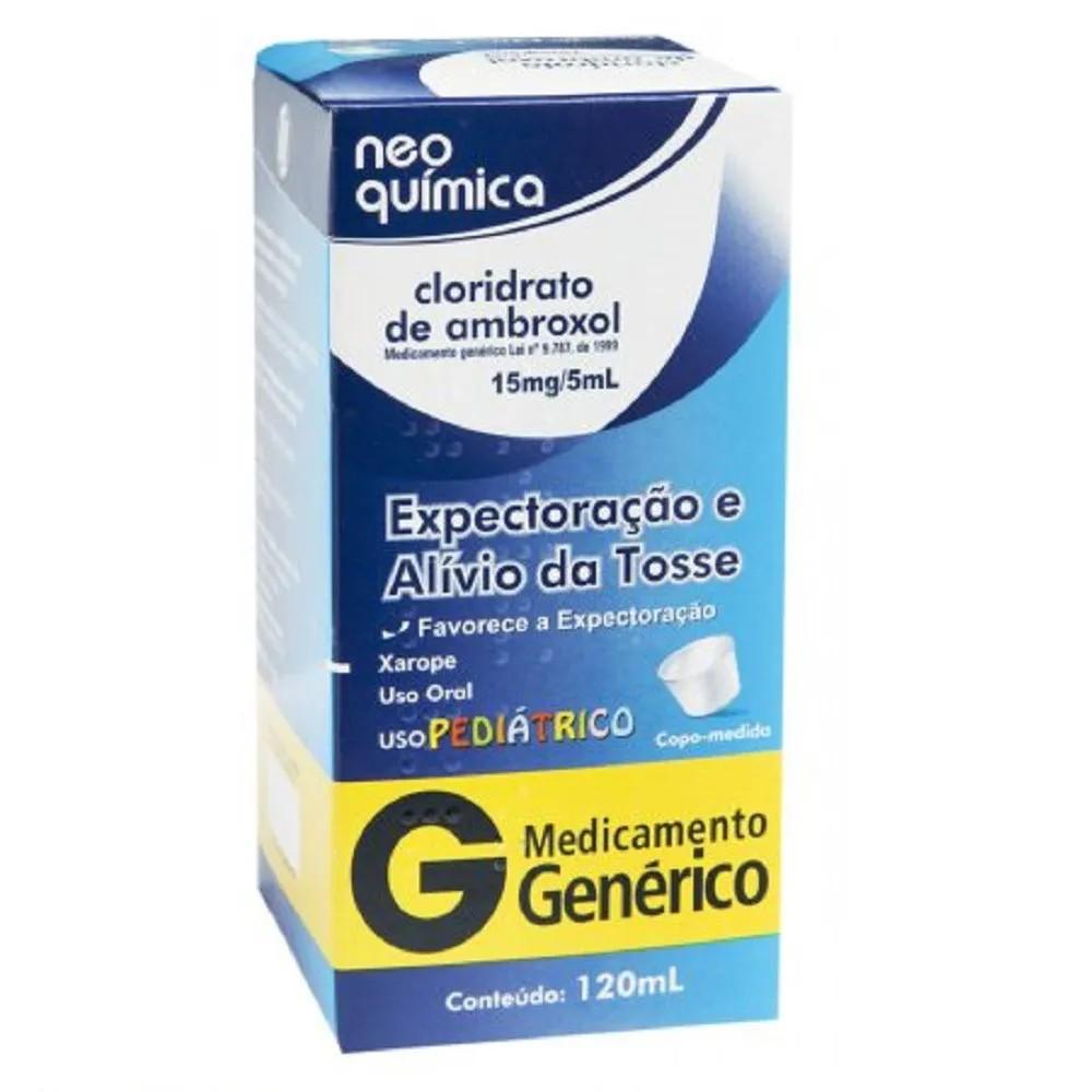 Cloridrato De Ambroxol 15mg/5ml 120ml Infantil