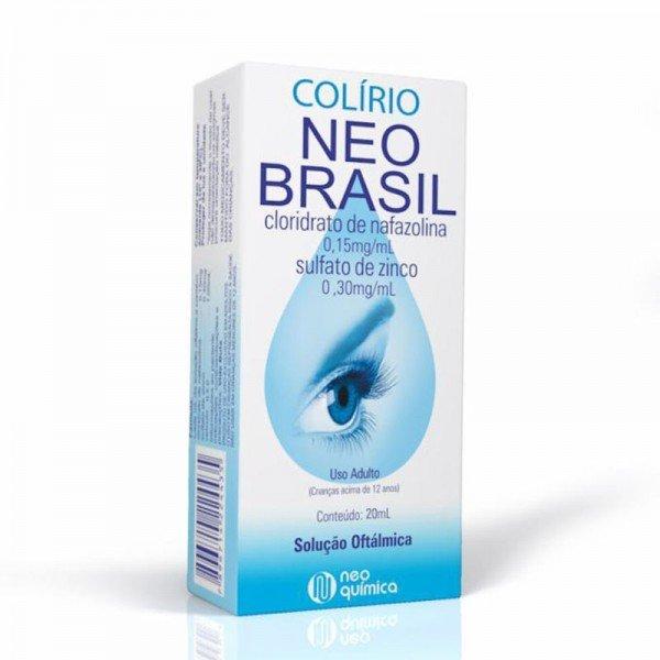Colírio Neo Brasil (Sulfato De Zinco) 20mL
